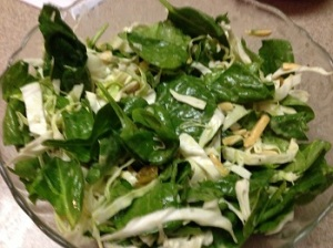 Spinach and Cabbage Salad