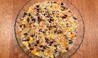 Quinoa Salad with Beans and Corn