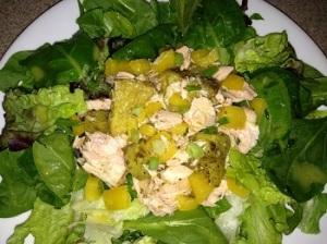 Zaatar Roasted Pineapple and Salmon Salad