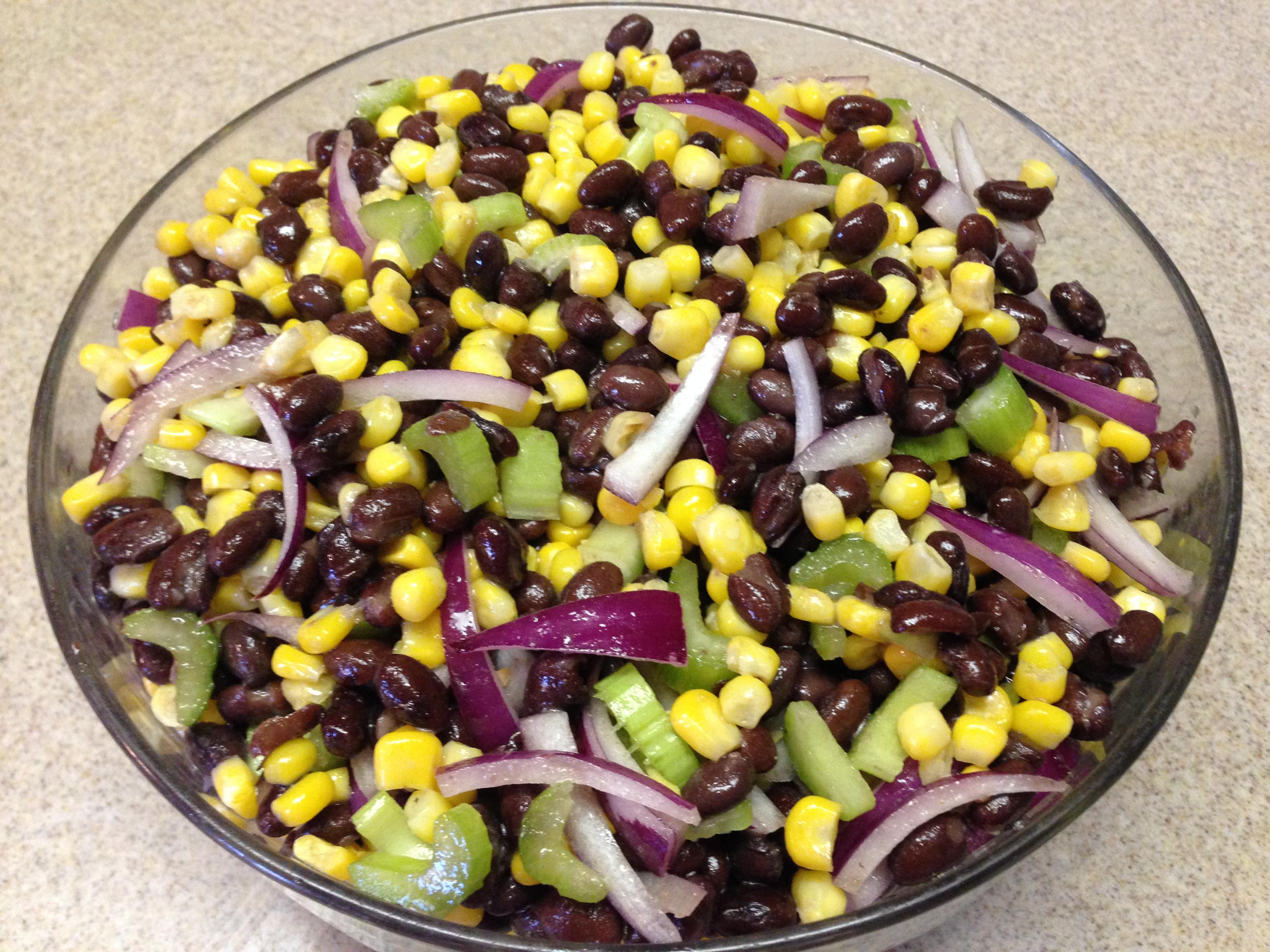 Black bean salad lime cumin dressing