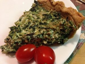 Wheat Germ Spinach Tart