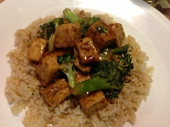 Orange Broccoli Tofu