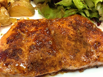 Orange-Glazed Spicy Salmon