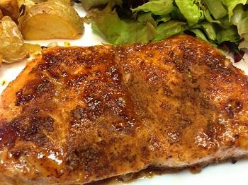 Orange-Glazed Spicy Salmon