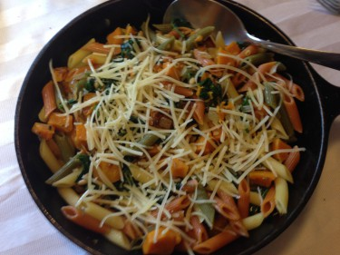 Butternut Squash and Spinach Pasta