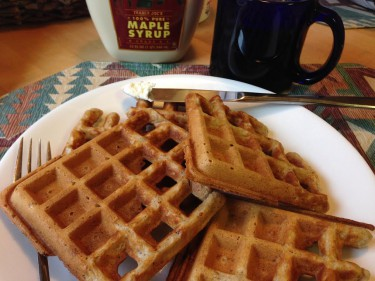 spiced pecan waffles