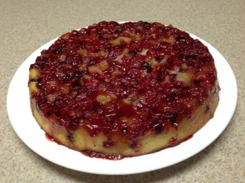 cranberry upside down cake 2