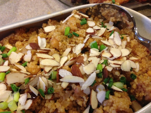 Couscous with Chickpeas. Dates amd Almonds