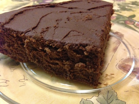 Passover chocolate truffle cake